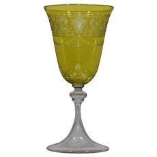 Baccarat Chartreuse Cut to Clear Wine Glass