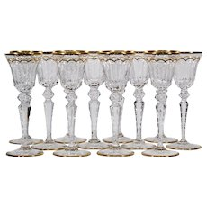 12 Saint Louis Excellence Crystal Wine Glasses
