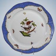 Herend Blue Rothschild Bird Serving Platter