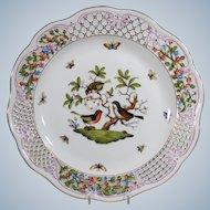 Herend Rothschild Pierced Serving Plate