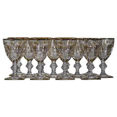 12 Baccarat Empire Water Goblets
