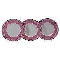 12 Ovington Brothers Minton Pink Dessert Plates
