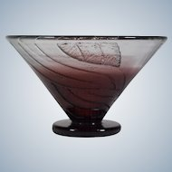 Schneider Art Deco Footed Bowl