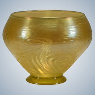 Tiffany Gold Molded Glass Vase