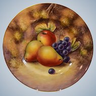 Royal Worcester Handpainted Fruit Dinner Plate