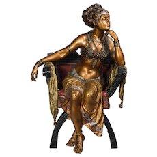 Vienna Bergman Bronze Belly Dancer Sculpture