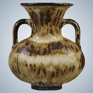 Royal Copenhagen Art Pottery 2 Handled Vase