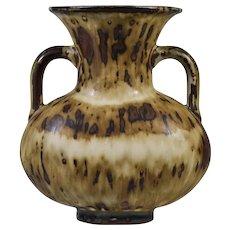 Royal Copenhagen Art Pottery 2 Handled Vase