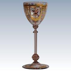Salviati Venetian Murano Wine Glass