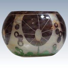 Charles Schneider Cameo Floral Art Glass Bowl