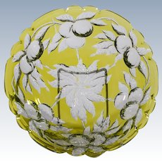 Baccarat Chartreuse Cut to Clear Orange Bowl