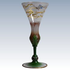 "Venetian Murano ""Pauly"" Enameled Wine Glass"