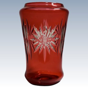 Durand Art Glass Cut to Clear Vase