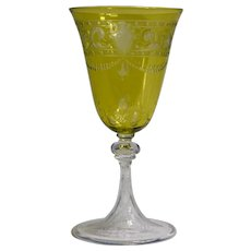 Baccarat Chartruese Cut to Clear Wine Glass