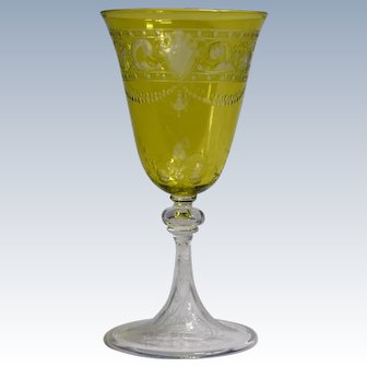 Baccarat Chartruese Cut to Clear Wine Glass