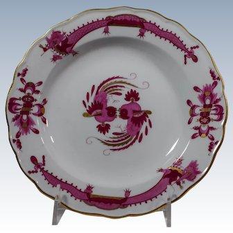 3 Meissen Rich Court Pink Dragon Pink Dessert Plates
