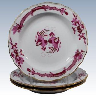1 Meissen Rich Court Pink Dragon Pink Salad Plate with gilding