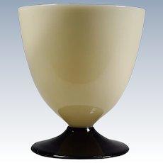 Steuben Art Deco Ivory & Mirror Black Water Glass