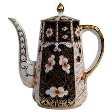Royal Crown Derby Traditional Coffee Pot, Pattern 2451 Imari