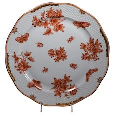 Herend Large Serving Platter Chinese Bouquet Hand Painted
