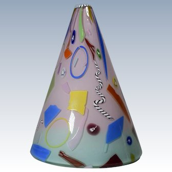 Richard Marquis Noble Effort Art Glass Vase with Murrines