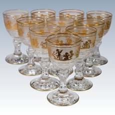 10 Val St. Lambert Danse De Flore Small Wine Glasses