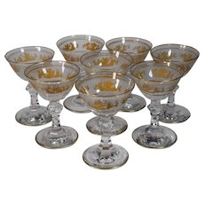 8 Val St. Lambert Liquor Glasses