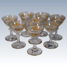 8 Val St. Lambert Liquor Glasses