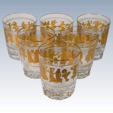 6 Val St. Lambert Danse De Flore Water Glasses