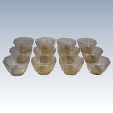 12 Venetian Murano Glass Bowls