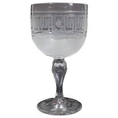 Dorflinger Cut Glass Water Goblet