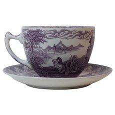 Cauldon Huge Breakfast Transfer Wear Cup & Saucer Chariot Pattern