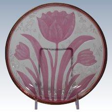 Rare Lobmeyr Carved Glass Small Bowl