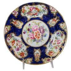 Royal Worcester Antique Plate with Floral & Gold Gilt