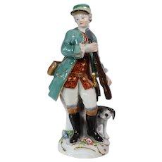 Meissen Porcelain Figure of a Hunter and Dog