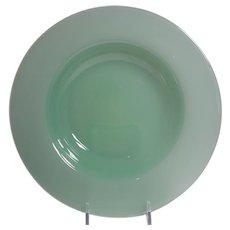 Steuben Green Jade Rim Soup Bowl