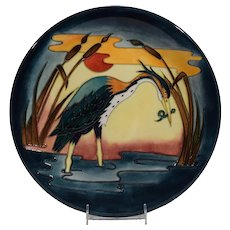 Moorcroft Wall Plaque Heron at Sunset
