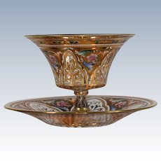 Moser Footed Glass Bowl & Underplate