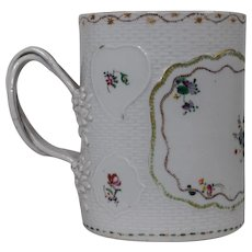 18th Century Chinese Export Famille Rose Porcelain Mug