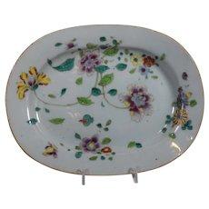 Chinese Export Famille Rose Porcelain Platter, 18th Century