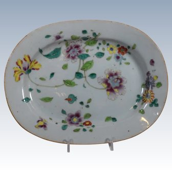 Chinese Export Famille Rose Porcelain Platter, 18th Century