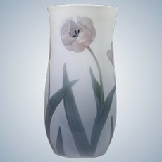 Antique Royal Copenhagen Vase with Tulips Circa 1920