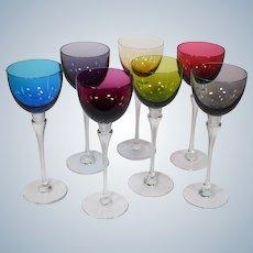 7 St. Louis Grand Lieu Hock Wine Glasses