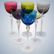 6 St. Louis Grand Lieu Hock Wine Glasses