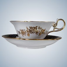Copeland Spode Jeweled & Gilt Cup & Saucer made for Burley & co.