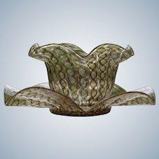 Salviati Venetian Murano Lattichino Bowl & Underplate