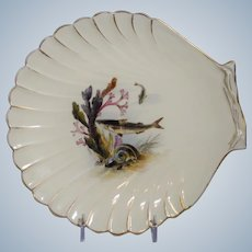 Royal Worcester Oyster Plate with Sea Life
