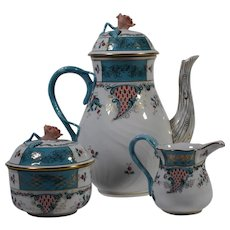 Herend Cornucopia 3 Piece Coffee Set
