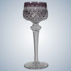 Baccarat Cut to Clear Hock Wine Glass, Circa 1925