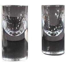 "2 Baccarat Roberto Sambonet Designed ""Service Tir"" Glasses, 1972"